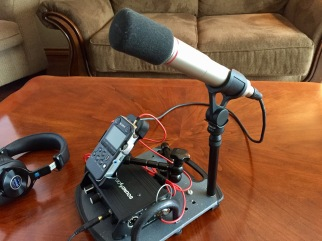 "Console side view with mic 3/8"" extension"